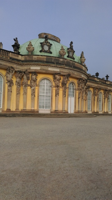 Closer view of Sanssouci