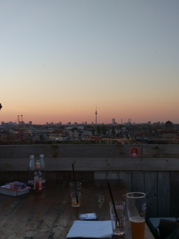 Sunset at Klunkerkranich rooftop bar